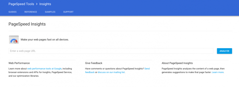 Google Pagespeed Insights Website Tester